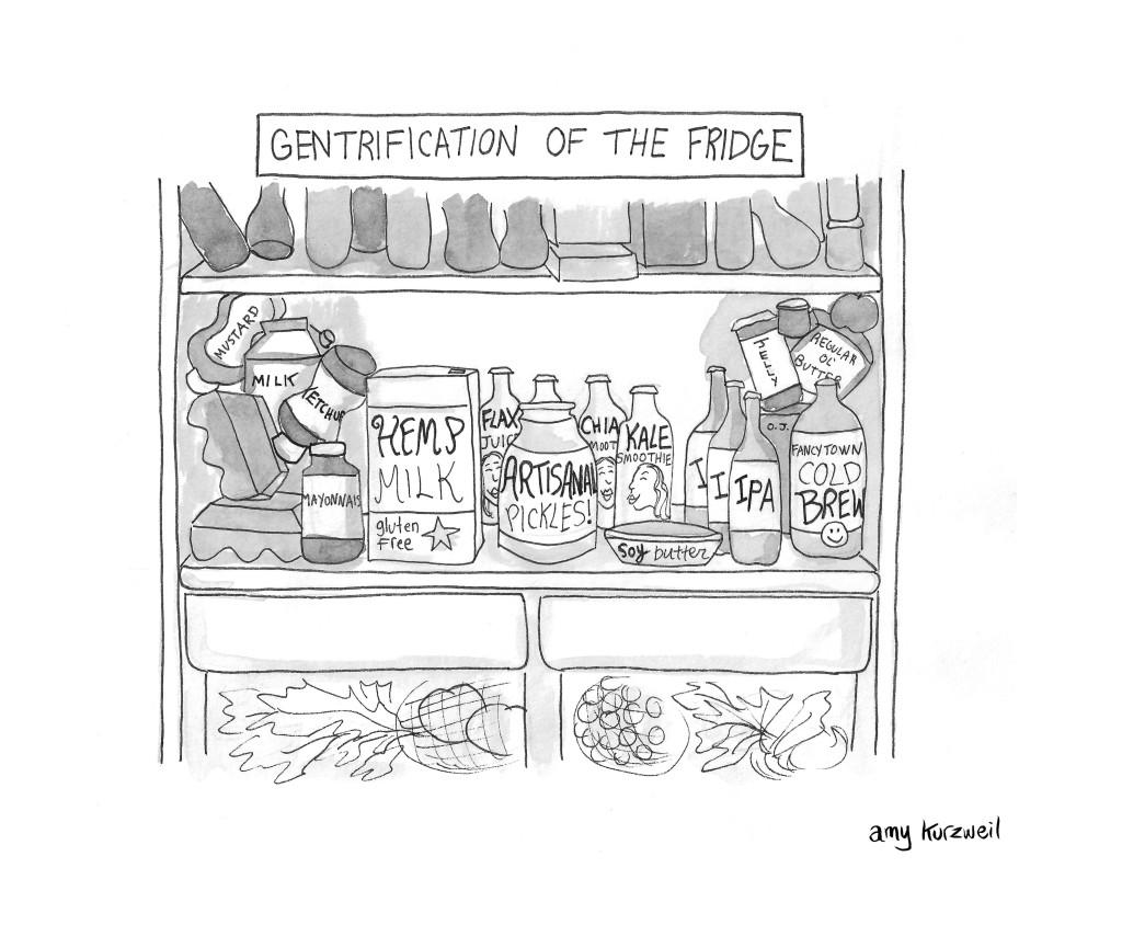 Gentrification of the fridge used